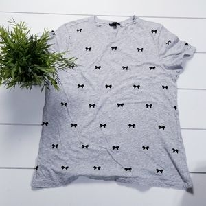 J.Crew allover bow  t-shirt